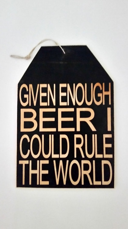 "5 1/2"" x 8"" Small Tag Sign BEER"