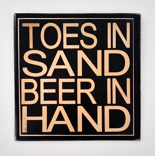 "7"" x 7"" Double layer square sign SAND/BEER"