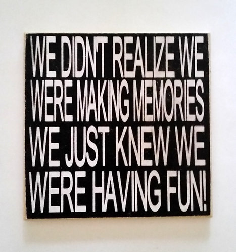 "2"" X 2"" Magnet MEMORIES"
