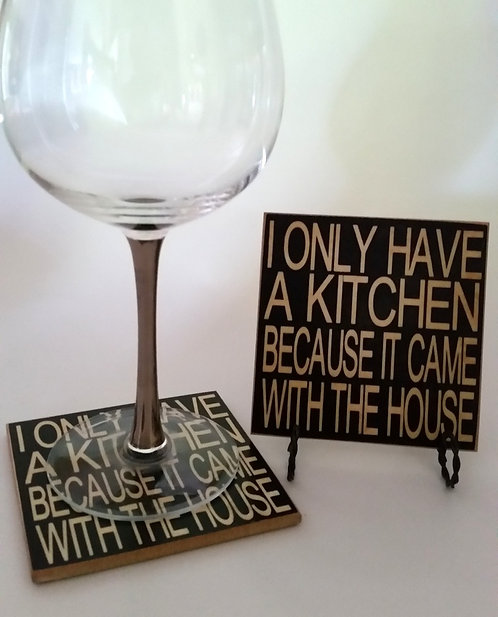 "4"" x 4"" Coaster KITCHEN"
