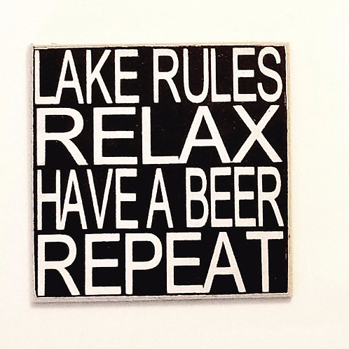 "2"" X 2"" Magnet LAKE/RELAX"
