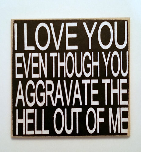 """2"""" X 2"""" Magnet LOVE YOU"""