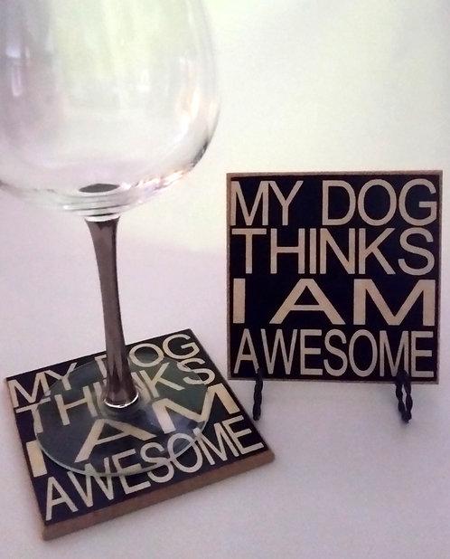 """4"""" x 4"""" Coaster DOG"""