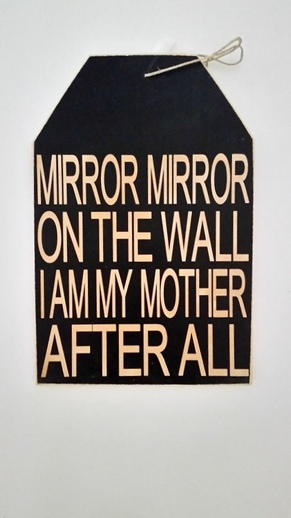 """5 1/2"""" x 8"""" Small Tag Sign MIRROR"""