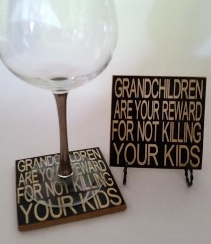 "4"" x 4"" Coaster GRANDCHILDREN"