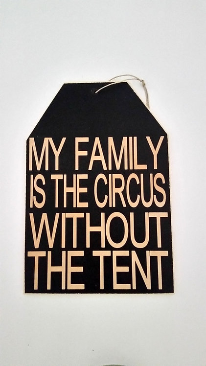 "5 1/2"" x 8"" Small Tag Sign TENT"