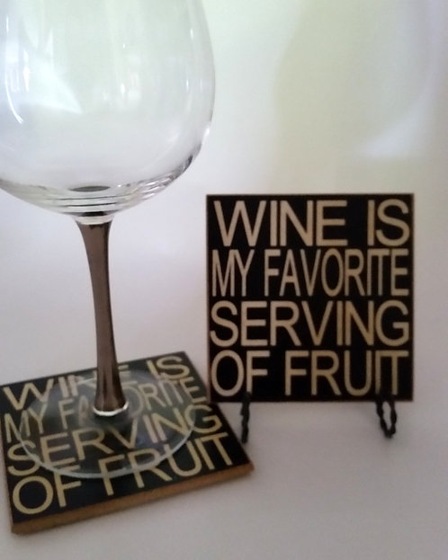 "4"" x 4"" Coaster WINE/FRUIT"