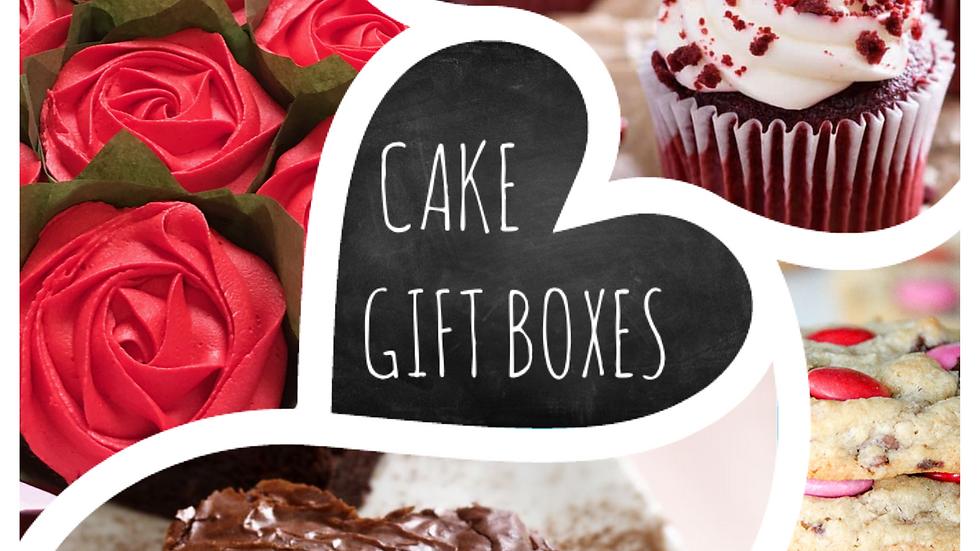 Valentine's Cake/Cookie Gift Box (x4)
