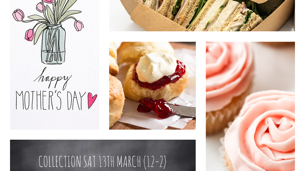 Mother's Day Afternoon Tea for 2 (collect between 12-2 on Sat 13.03.21)