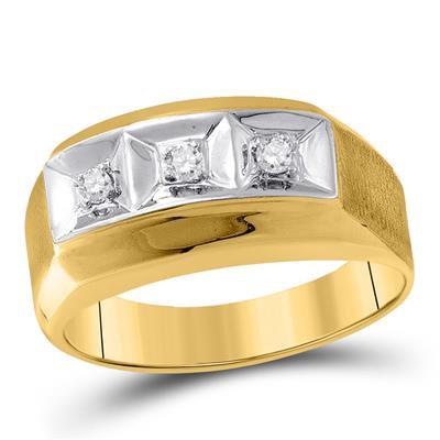 10k Gold .10ctw Three Diamond Ring