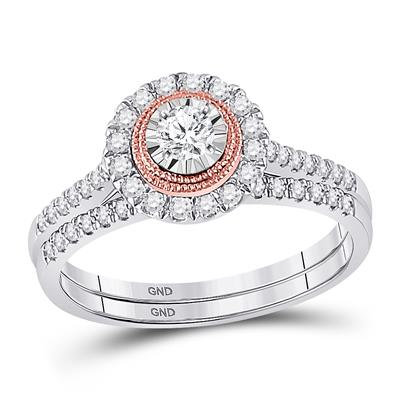 10k Gold .50ctw Diamond ring set, includes band