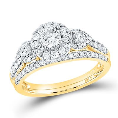 14k Gold 1ctw Diamond Bridal set, includes band
