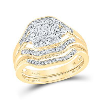 14K Gold .50ctw Diamond Bridal set includes 2 rings