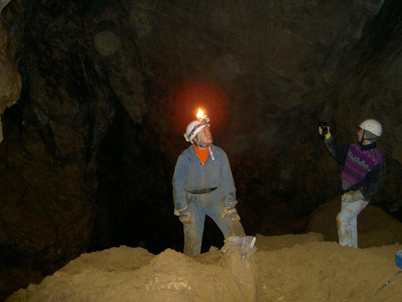 Im Inneren der Höhle