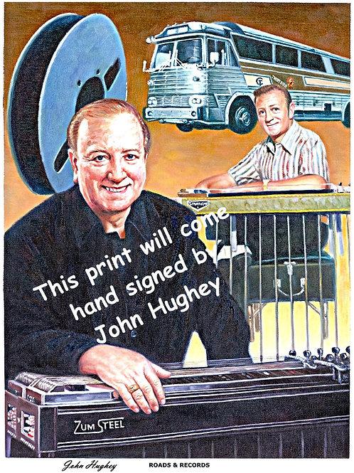 "John Hughey ""Records & Roads"" fine Art Print"