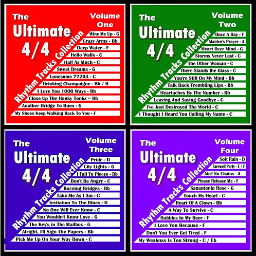 The Original Ultimate 4/4 Rhythm Tracks Collection Set of 4
