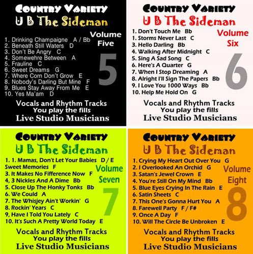 Country Variety UB The Sideman Collection Vol 5-8