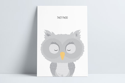 HD Twit-twoo owl print