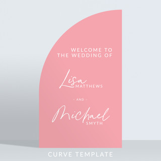 Holywood Design Birthday Party Panel - Curve Template