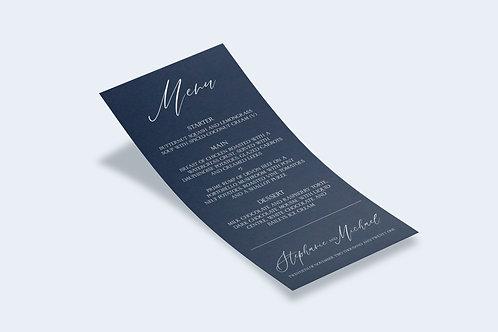Navy Devotion Wedding Menu