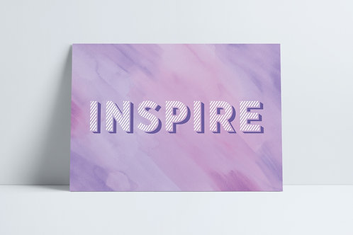 HD Purple Inspire print