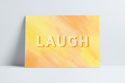 HD Yellow Laugh print