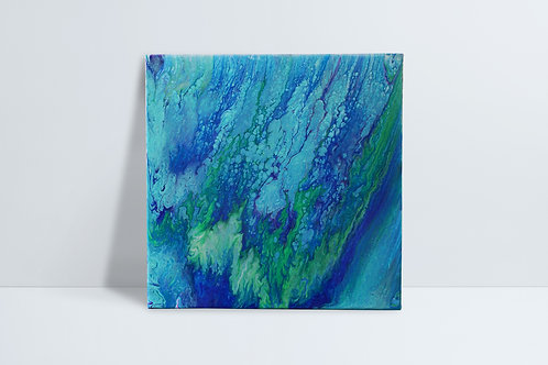 Abstract HD painting - greens and blues