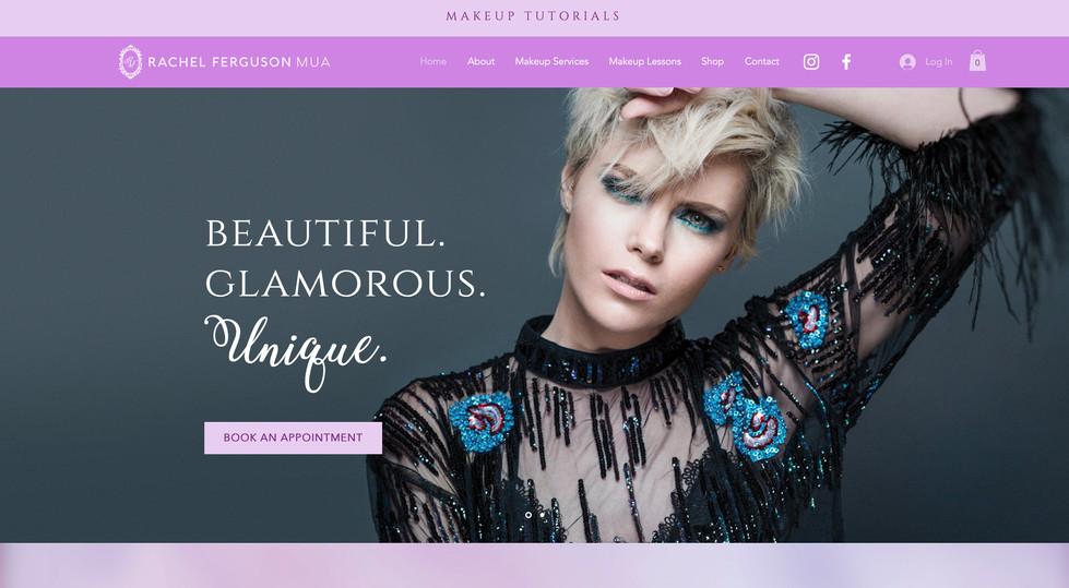 Rachel Ferguson MUA website - home page