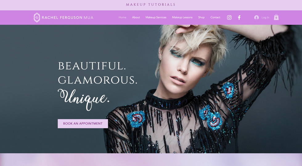 Rachel Ferguson MUA website - home page