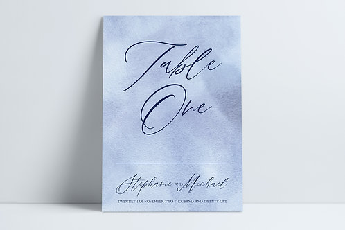 Navy Devotion Wedding Table Numbers