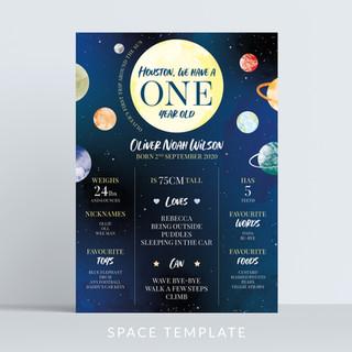 Holywood Design Milestone Birthday Board Space template