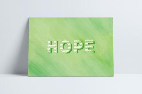 HD Green Hope print