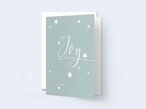 HD 'Joy to the world' Greeting Card
