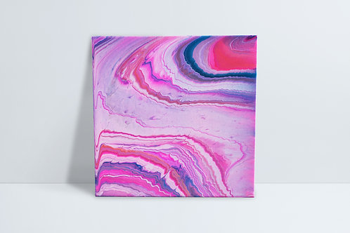 Abstract HD painting - pinks and teals