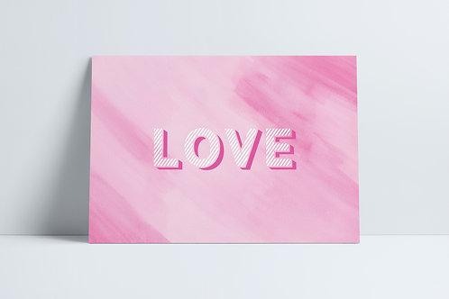 HD Pink Love print
