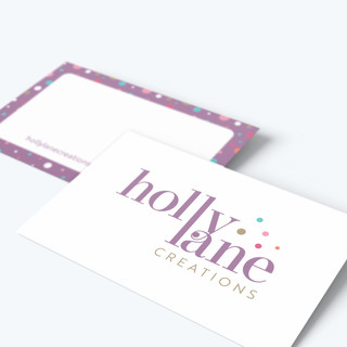 Holly Lane Creations business card