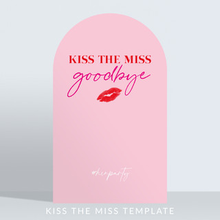 Holywood Design Birthday Party Panel - Kiss the Miss Rounded Template