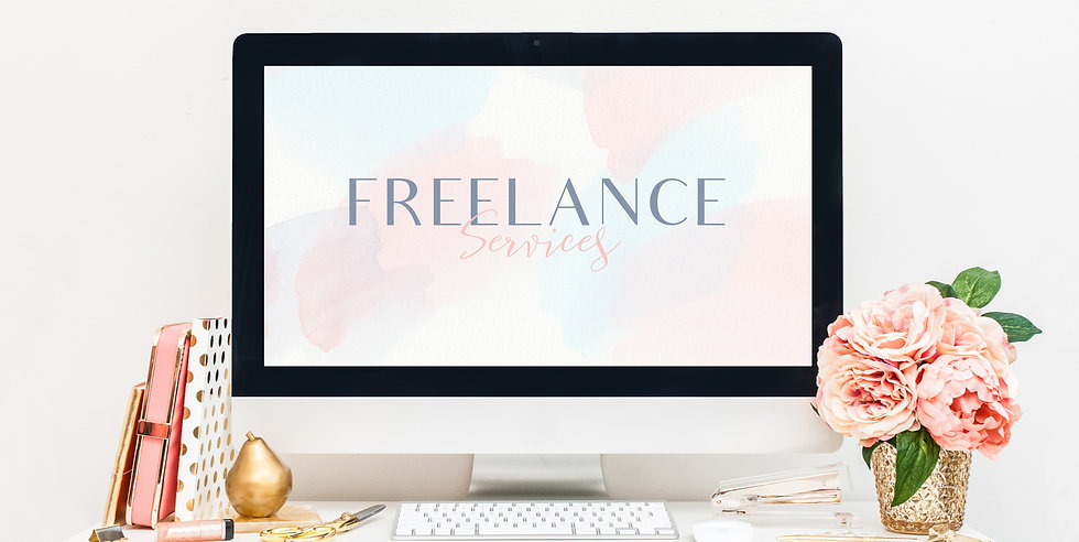 Holywood Design Freelance Services iMac and Flowers