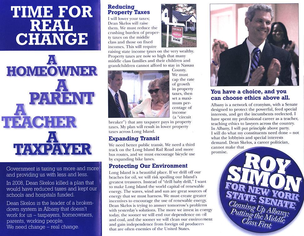 Roy Simon 2008 Campaign