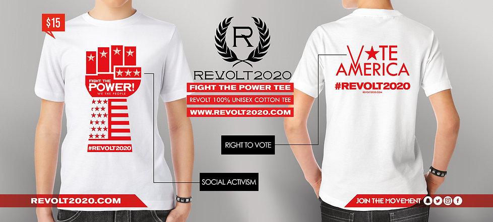 Revolt 2020 T-shirt Ad