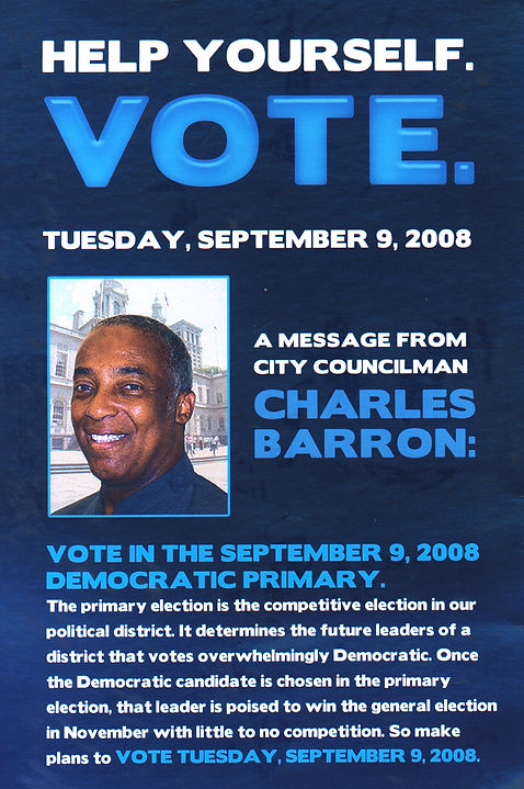 Charles Barron 60th District of the New York Assembly