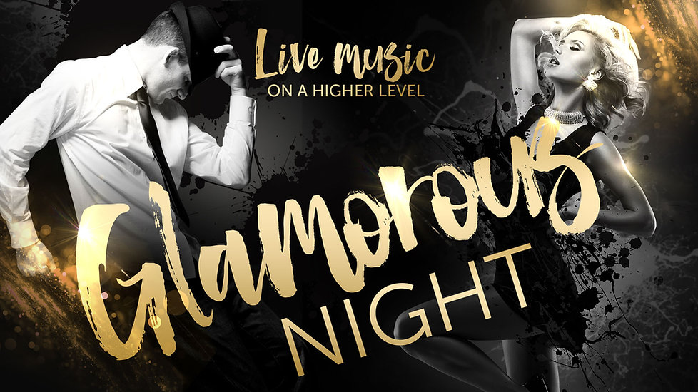 Flyer of the Glamorous Night party event