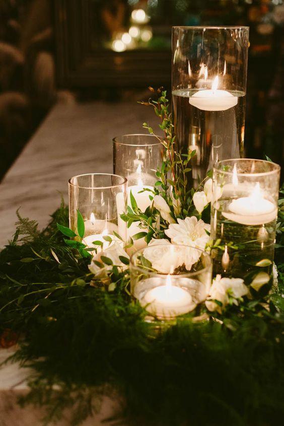 wedding lights, esküvői dekoráció gyertyákkal