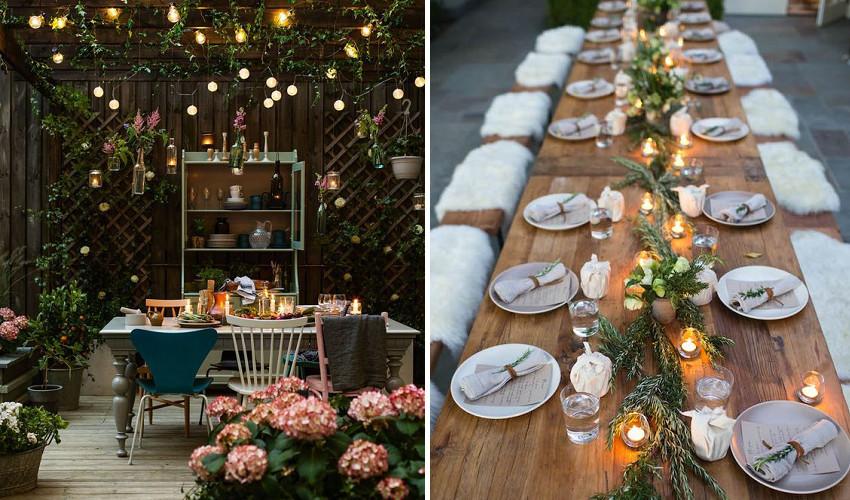 esküvői dekoráció gyertyákkal