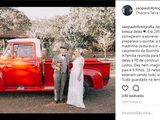 Esküvői fotók, amikre a pár 60 évet várt