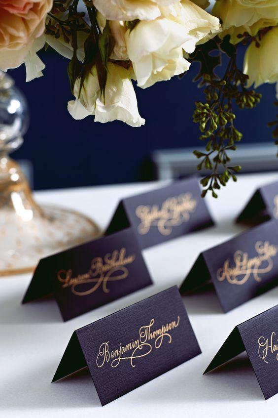 esküvői fekete ültetőkártyák