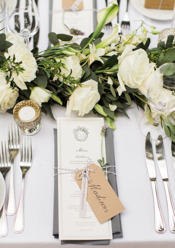 menu card, esküvői menükártya