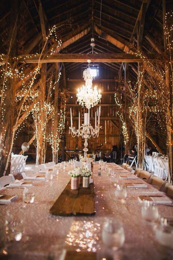 lights on wedding