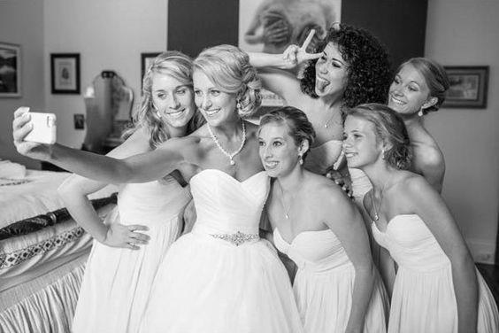 bride selfie, esküvői selfie