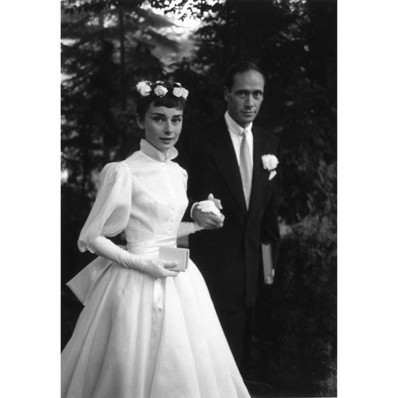 Audrey Hepburn és Mel Ferrer esküvő